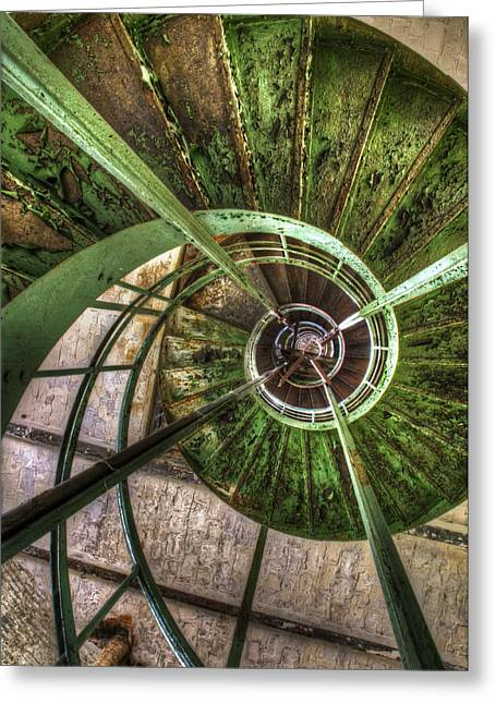In The Eye Of The Spiral  Greeting Card by Nathan Wright