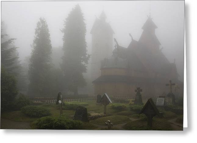 In The Fog Greeting Card by Joanna Madloch