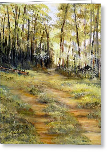 Greeting Card featuring the painting In The Forest by Dorothy Maier