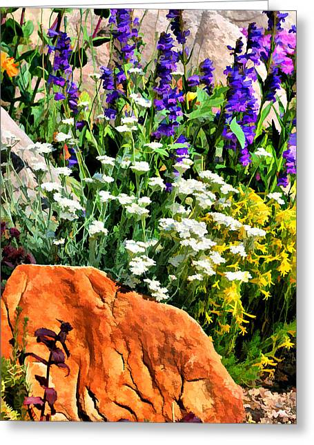 In The Garden Greeting Card by Brian Davis