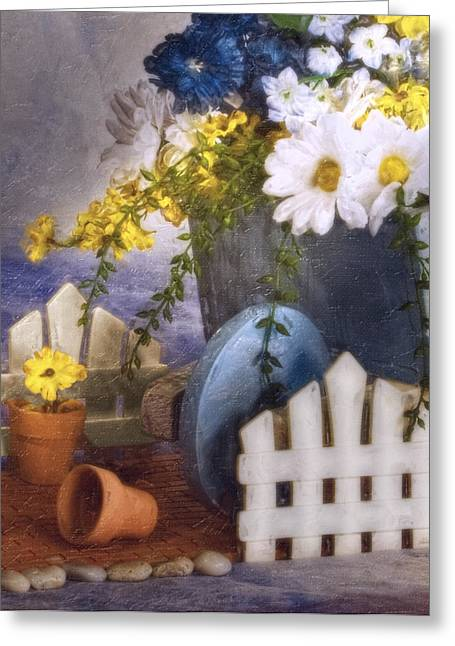 In The Garden Greeting Card by Tom Mc Nemar