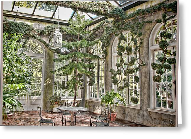 In The Greenhouse Greeting Card by Elin Mastrangelo