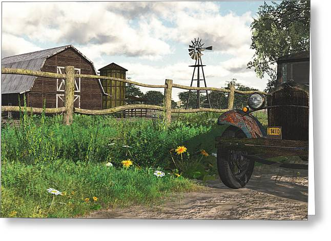 In The Heartland Greeting Card by Jayne Wilson