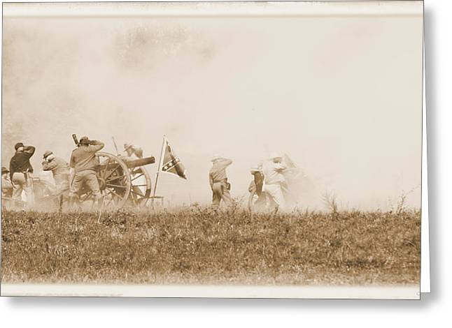 Greeting Card featuring the photograph In The Heat Of Battle by Judi Quelland