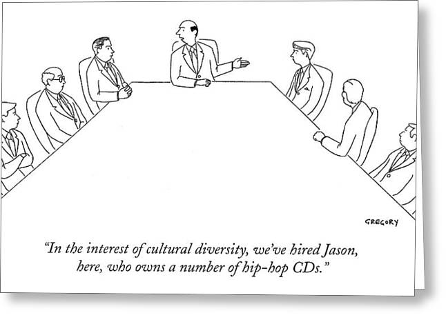 In The Interest Of Cultural Diversity Greeting Card by Alex Gregory