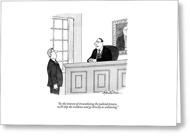In The Interest Of Streamlining The Judicial Greeting Card