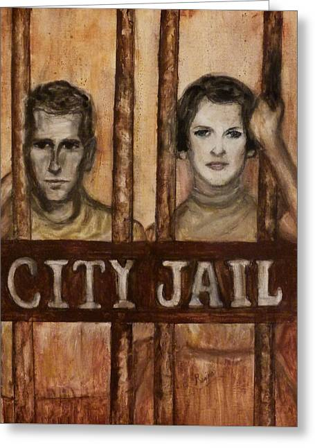 In The Jailhouse Now Greeting Card by Regina Brandt