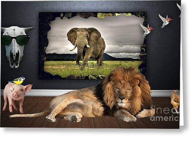 In The Jungle Greeting Card