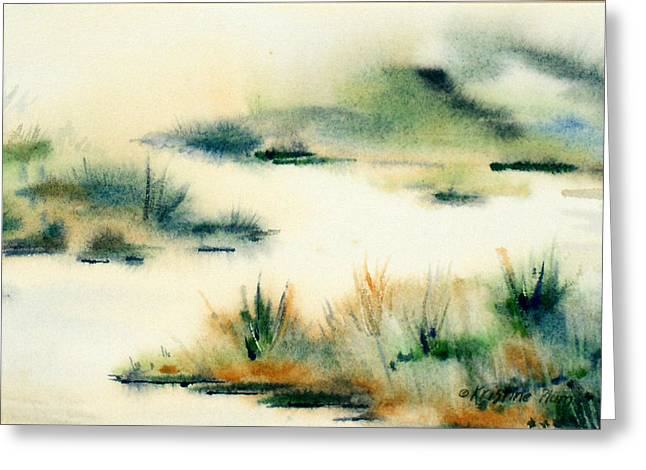 In The Mist Greeting Card by Kristine Plum
