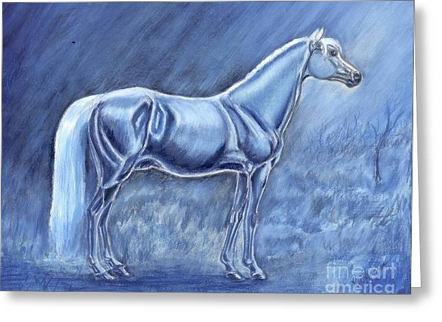 In The Misty Moonlight Greeting Card by Ruth Seal