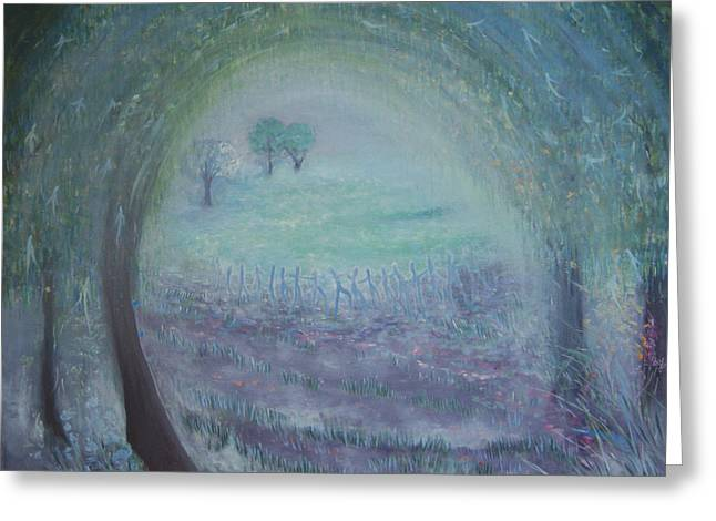 In The Morning Mist Greeting Card