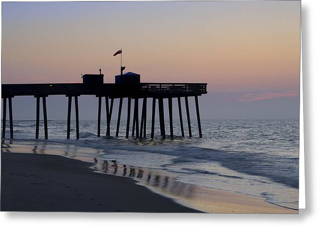 In The Morning On The Beach Ocean City Greeting Card by Bill Cannon