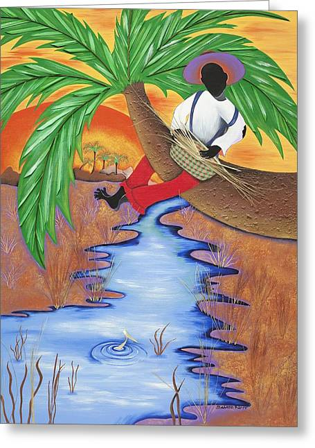 In The Palm Of His Hands Greeting Card by Patricia Sabree