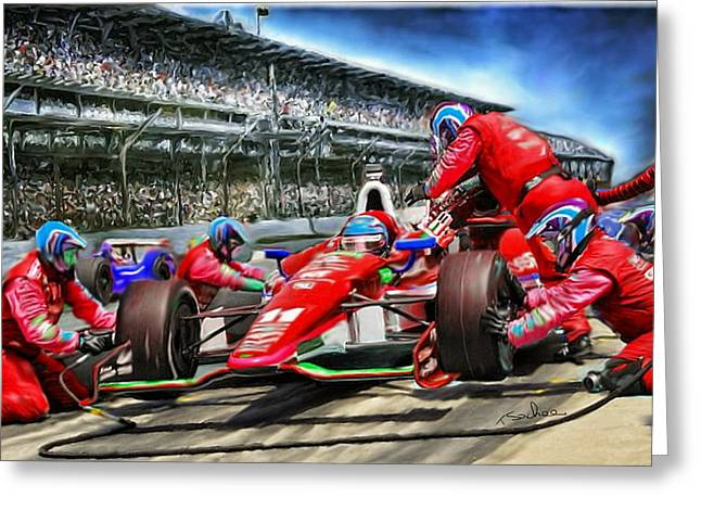 In The Pits  Greeting Card by Tom Sachse