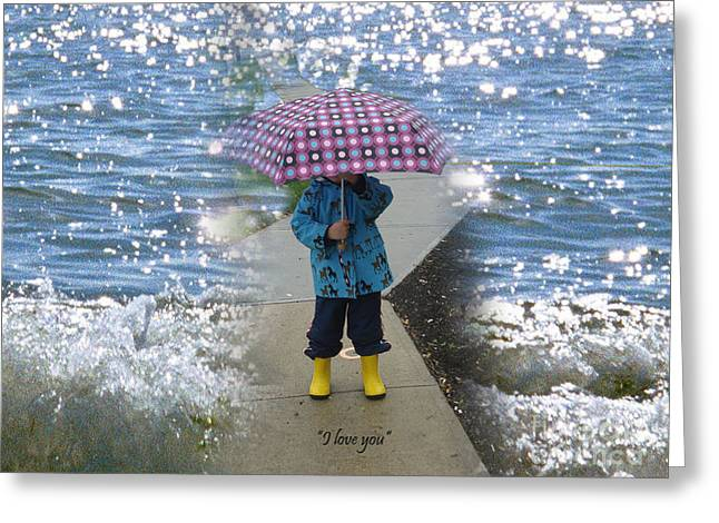 In The Rain I Love You Greeting Card