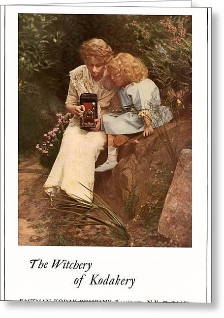 In The Rock Garden. Circa 1913. Greeting Card