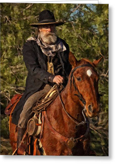 In The Saddle Greeting Card