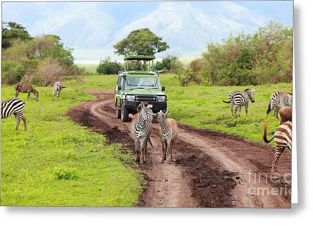 In The Safari Greeting Card by Boon Mee