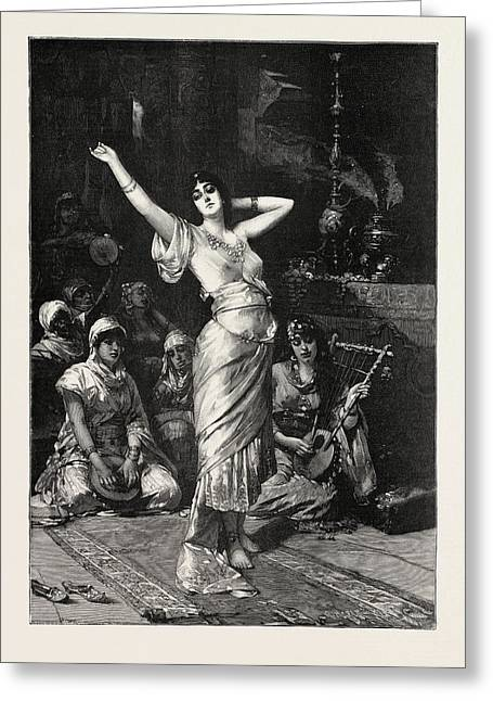 In The Seraglio, 1893 Engraving. Nathaniel Sichel Greeting Card