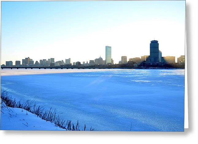 In The Shadow Of The Pru Greeting Card