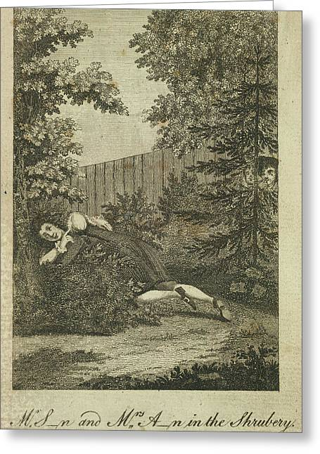 In The Shrubbery Greeting Card by British Library