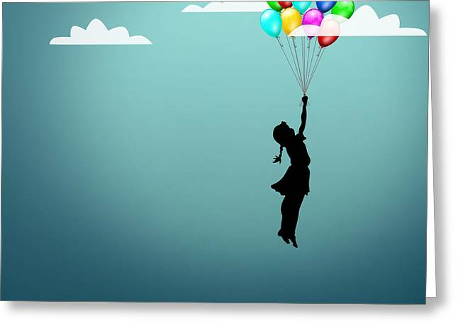 In The Sky  Greeting Card by Mark Ashkenazi