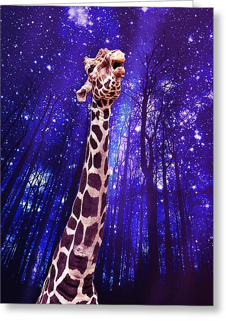 In The Sky With Diamonds Greeting Card by Bill Tiepelman