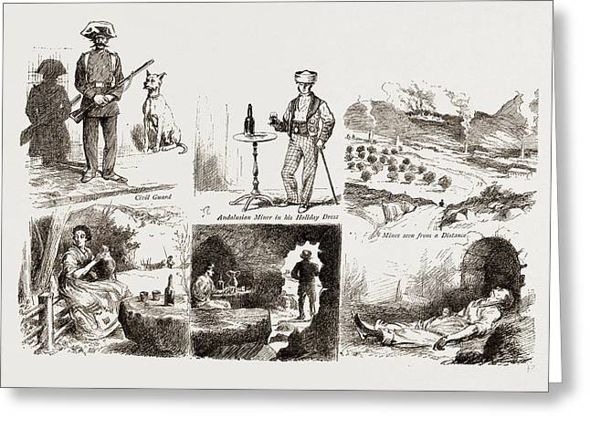 In The Spanish Black Country, In An Andalusian Lead Mining Greeting Card by Litz Collection
