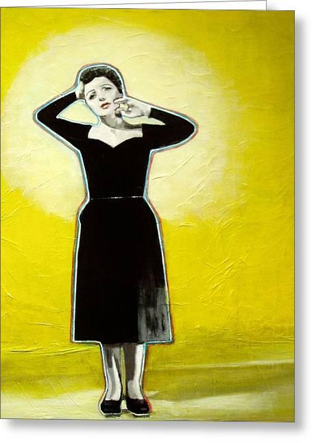 In The Spotlight Greeting Card by Elizabeth  Bogard
