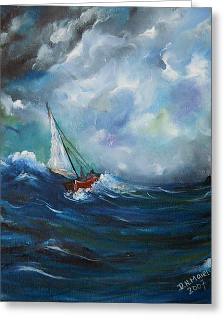 In The Storm Greeting Card by Dorothy Maier