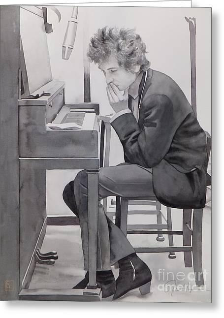 In The Studio Greeting Card by Robert Hooper