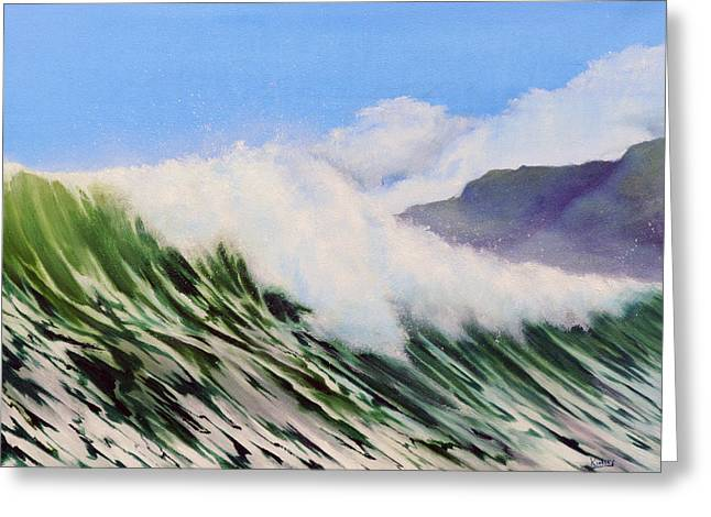 In The Surf Greeting Card by Neil Kinsey Fagan