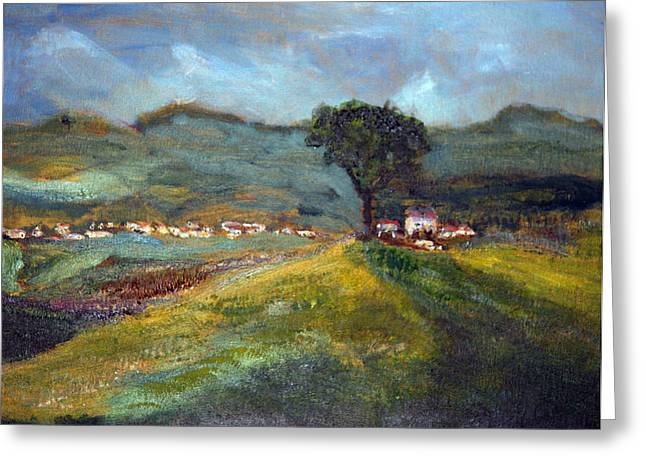 In The Tuscan Hills Greeting Card
