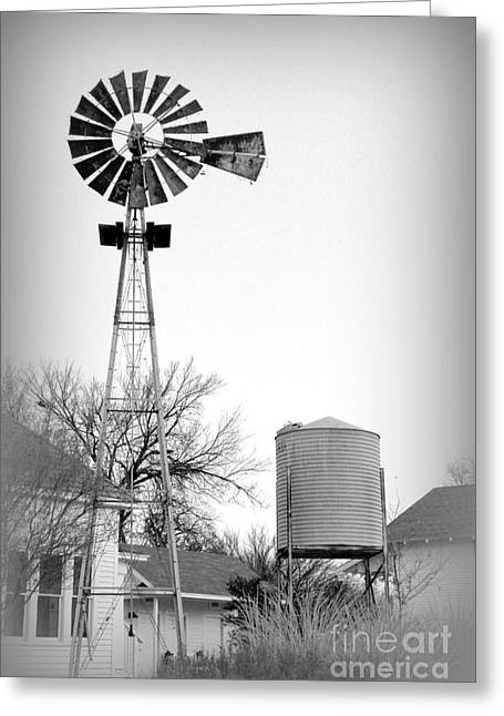 In The Windmills Of Your Mind Greeting Card by Kathy  White