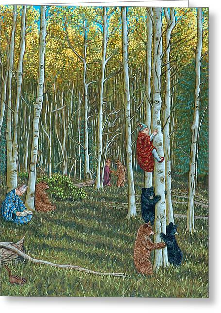 In The Woods Greeting Card by Holly Wood