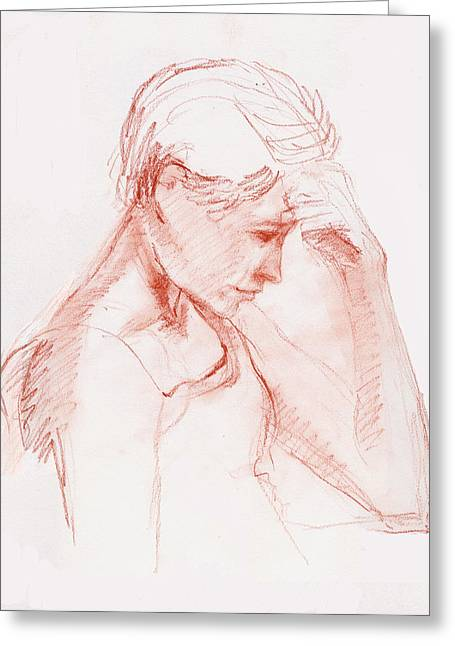 In Thought Greeting Card by Sarah Buell  Dowling