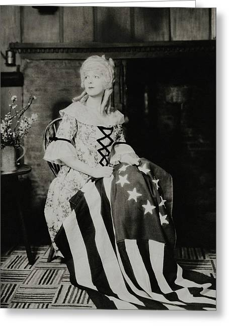 Ina Claire As Betsy Ross Greeting Card by Charles Sheeler