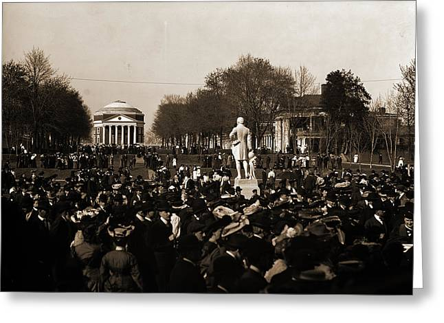 Inauguration Day, University Of Va, University Of Virginia Greeting Card by Litz Collection