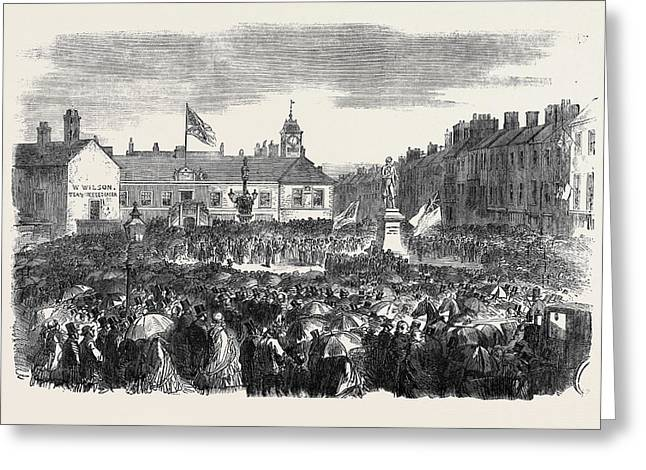 Inauguration Of The Steel Monument At Carlisle On The 16th Greeting Card
