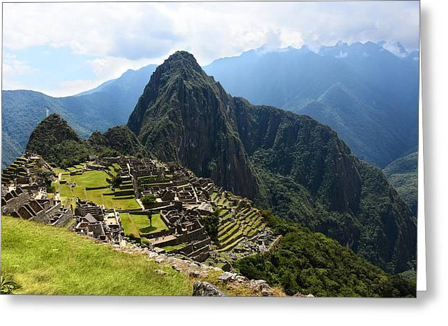 Inca City Machu Picchu Greeting Card