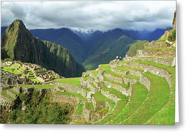 Inca City Of Machu Picchu With Urubamba Greeting Card