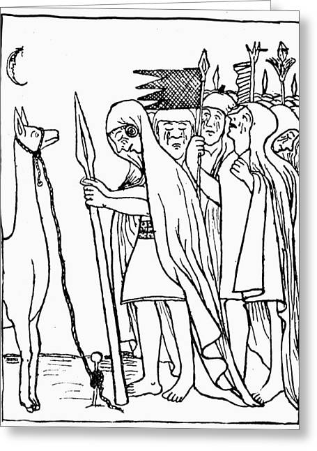 Inca Empire Dead Ruler Greeting Card by Granger
