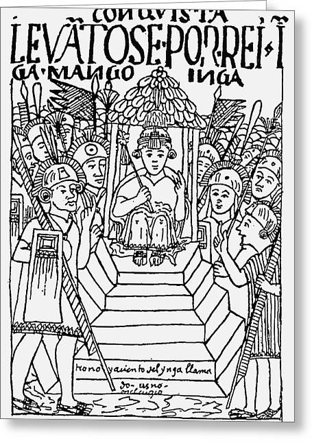 Incan King, 1583 Greeting Card by Granger