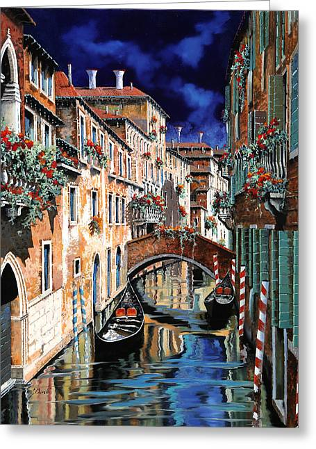 Inchiostro Su Venezia Greeting Card by Guido Borelli
