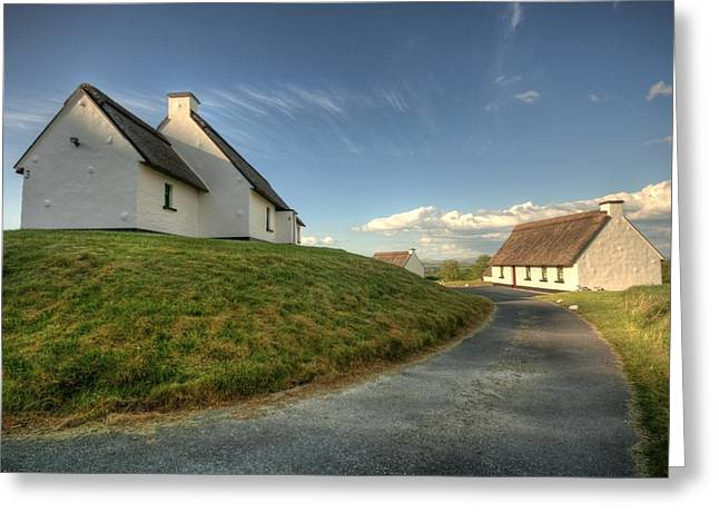 Inchiquin Cottages Greeting Card by John Quinn