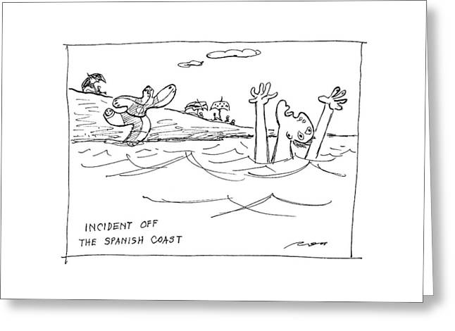 Incident Off The Spanish Coast Greeting Card