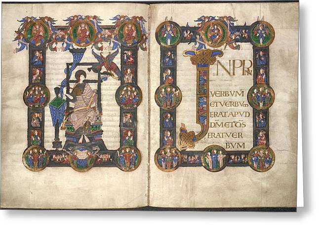 Incipit To St John's Gospel Greeting Card by British Library