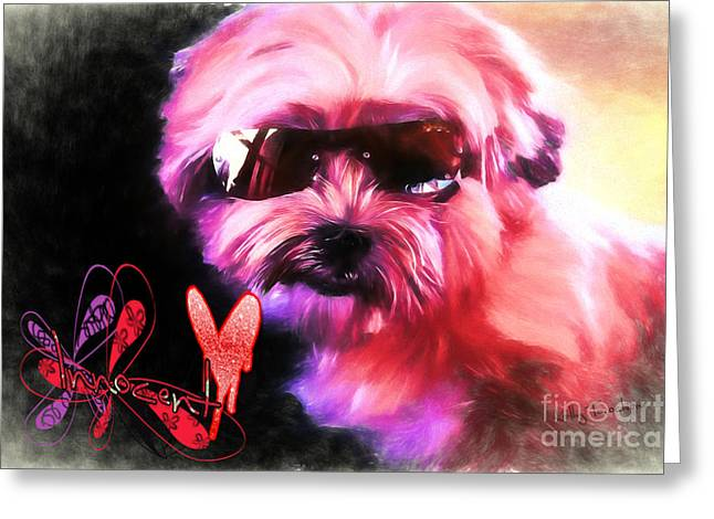 Greeting Card featuring the digital art Incognito Innocence by Kathy Tarochione