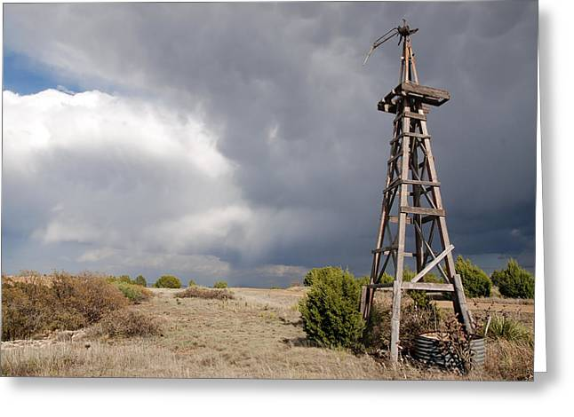 Incoming Storm On The High Plains Horizontal Greeting Card