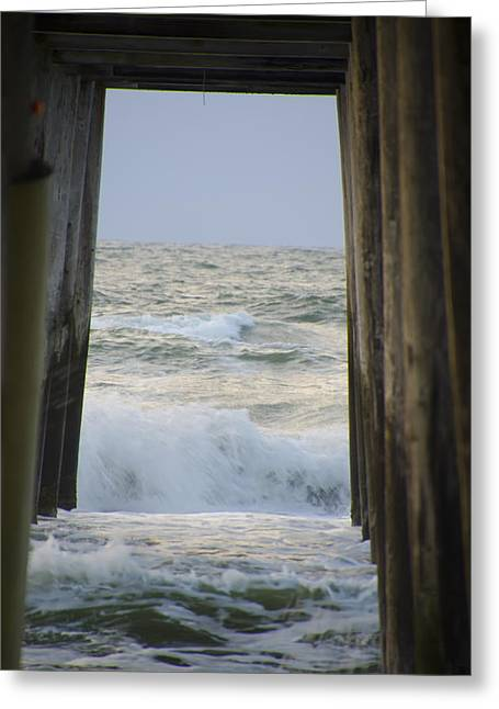 Incoming Tide At 32nd Street Pier Avalon New Jersey Greeting Card by Bill Cannon